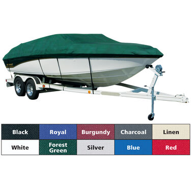 Exact Fit Covermate Sharkskin Boat Cover For CORRECT CRAFT SKI NAUTIQUE BOWRIDER Doesn t COVER PLATFORM w/BOW CUTOUT FOR TRAILER STOP