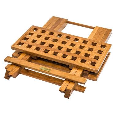 Whitecap Teak Teak Grate Top Fold-Away Table