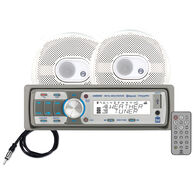 """Dual AMCP500BT USB/MP3/WMA Bluetooth Media Receiver With Two 6.5"""" Speakers"""