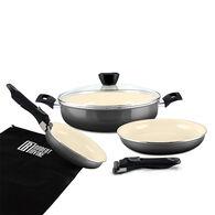 Robert Irvine 7-Piece Cookware Set, Black