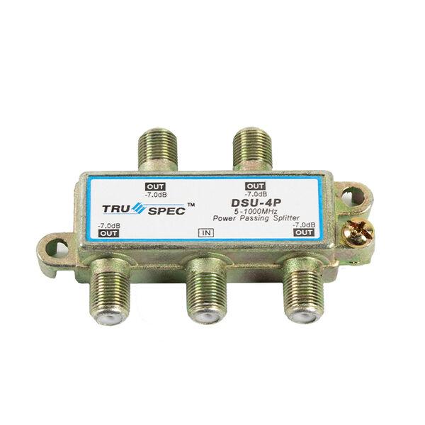 Tru Spec 4-Way Coax Splitter 1GHz