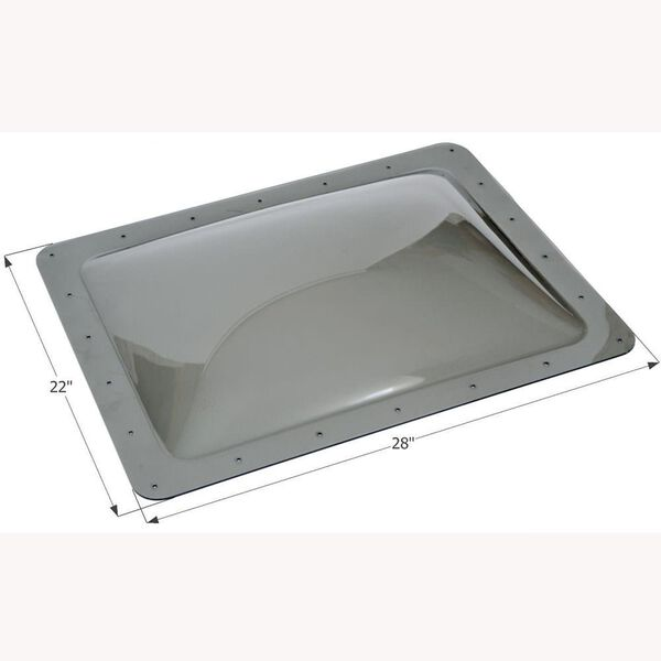 "RV Escape Hatch Lid, Thermoformed Polycarbonate, 26"" x 26"", Smoke"