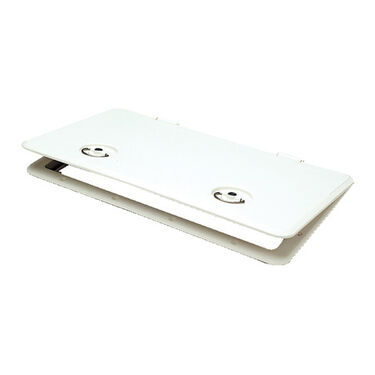 "Sure-Seal 13"" x 30"" Access Hatch, Locking, Polar White"