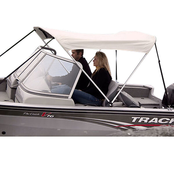 Shademate White Vinyl Stainless 2-Bow Bimini Top 5'6''L x 42''H 54''-60'' Wide