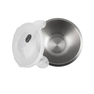 Robert Irvine 8-Piece Microwave-Safe Prep Bowl and Lid Set, Black