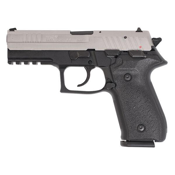 Arex Rex Zero 1 Standard Handgun, Black Frame w/Nickel-Plated Slide, 9mm