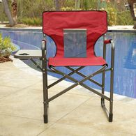 Mesh Back Chair with Table, Red