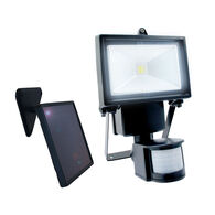 Single COB Solar Motion Activated Security Light with Integrated LED
