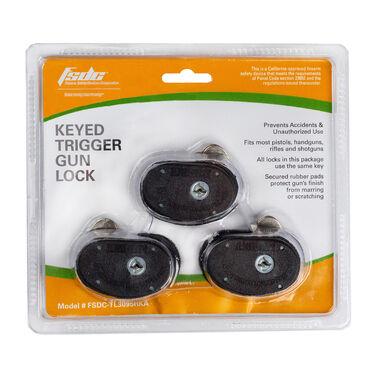 FSDC Keyed Black Trigger Lock, 3 Pk.