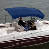 """Shademate Polyester 4-Bow Bimini Top, 8'L x 54""""H, 85""""-90"""" Wide"""