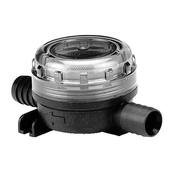 "Jabsco Pumpgard In-Line Strainer With Stainless Steel Screen - 3/4"" Hose"
