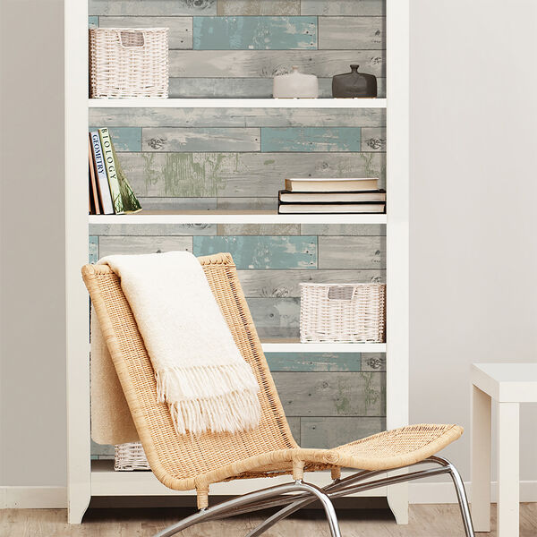 NuWallpaper Beachwood Peel-and-Stick Wallpaper