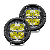 """360-Series 4"""" LED Off-Road Spot Beam with White Backlight - Black Housing"""