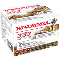 Winchester .22 LR 333 Ammunition Bulk Pack, 36-gr., CPHP