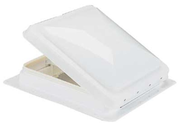 Heng's Replacement Roof Vent, White Lid w/White Metal Base