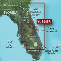 Garmin BlueChart g2 HD Cartography, Florida East Coast/Kissimmee River System