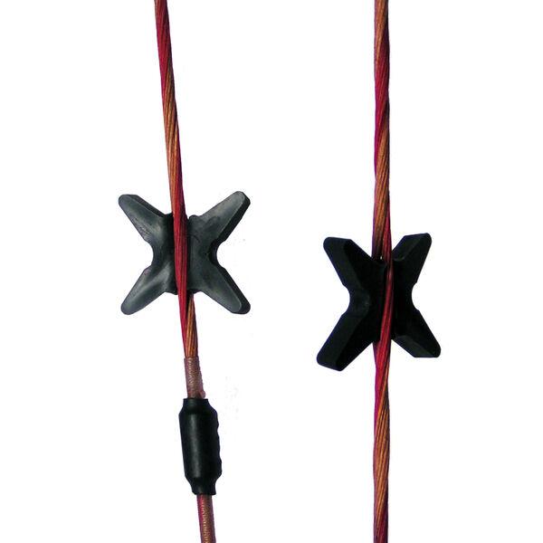 Bowjax Super Slipjax Bow String Silencers, Black, 4 Pk.