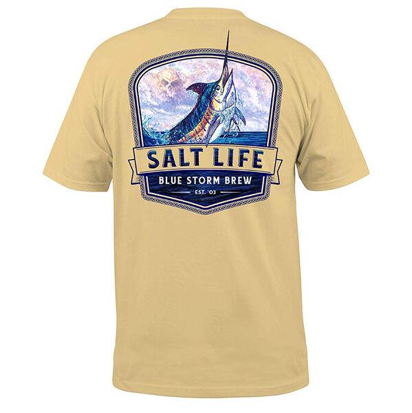 Salt Life Men's Blue Storm Brew Short-Sleeve Pocket Tee