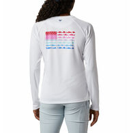 Columbia Women's Tidal Tee PFG Fish Flag Long-Sleeve T-Shirt