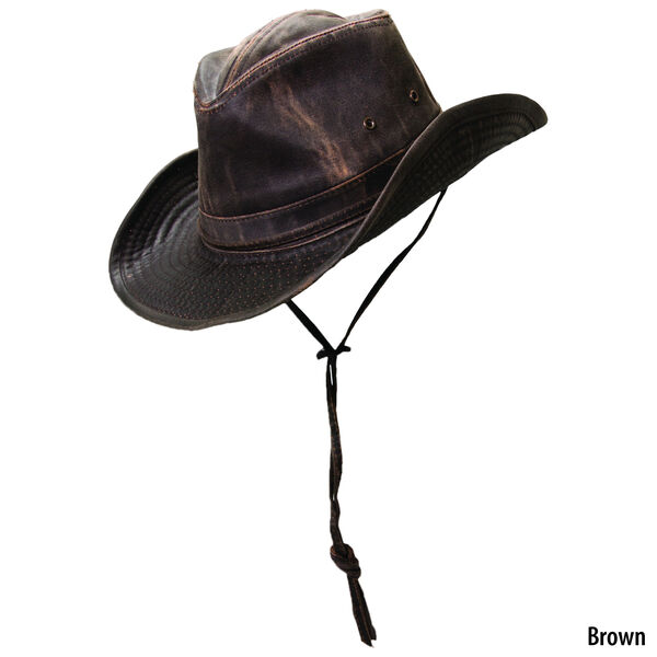 Dorfman Pacific Men's Outdoor Weathered Cotton Outback Hat