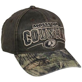 Mossy Oak County Logo Two-Tone Camo Cap