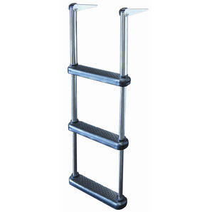 Dockmate Telescoping Drop Ladder With Plastic Steps, 3-Step