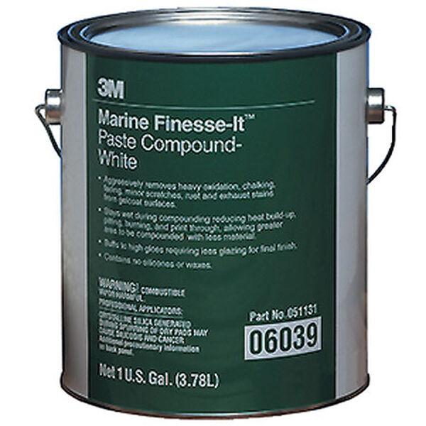 3M Marine Finesse-It Paste Compound, White, Gallon