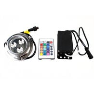 Race Sport 3-LED Surface-Mount Underwater Light with Remote, RGB Multi-Color
