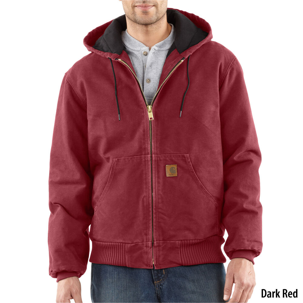 ee2a9669b Carhartt Men's Quilted Flannel-Lined Sandstone Active Jacket