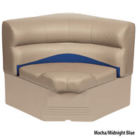 "Toonmate 32"" Premium Pontoon Corner Section Seat w/Rounded Corner, Mocha Base"