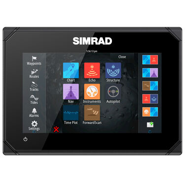 Simrad GO7 XSE Fishfinder Chartplotter With Basemap and TotalScan Transducer