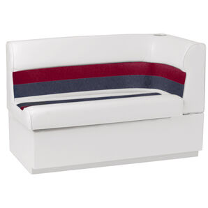 Toonmate Deluxe Pontoon Left-Side Corner Couch - TOP ONLY - White/Red/Charcoal