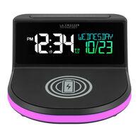 """La Crosse """"Glow"""" Wireless Charging Alarm Clock with Indoor Temperature"""