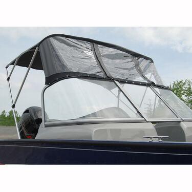 Bimini Top For Deep V Aluminum Fishing Boat w/Walk-Thru Windshield, 3 Bow 79-84W