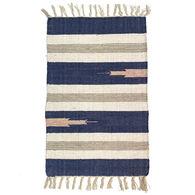 Multi-Color Wide-Striped Cotton Rug