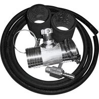 "Diesel Install Kit for Auxiliary and Transfer Fuel Tanks, Fits Ford (2001-up), Dodge (2012-down), and 2011 Chevy & GMC trucks (2011-up) with 1 1/2"" fuel fill hoses"