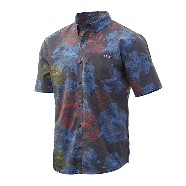 HUK Men's Kona Short-Sleeve Woven Shirt