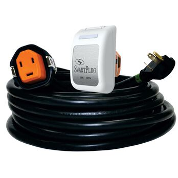 30 Amp 30' Cordset and Non-Metallic Inlet, Black/White