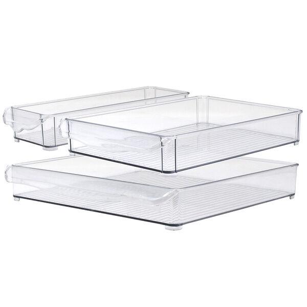 Gourmet Kitchen 3-Piece Refrigerator Bin Set