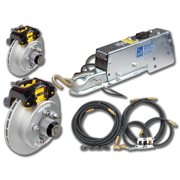 """Tie-Down 12"""" Vented Rotor Disc Brakes Complete Kit With Vortex Hub"""