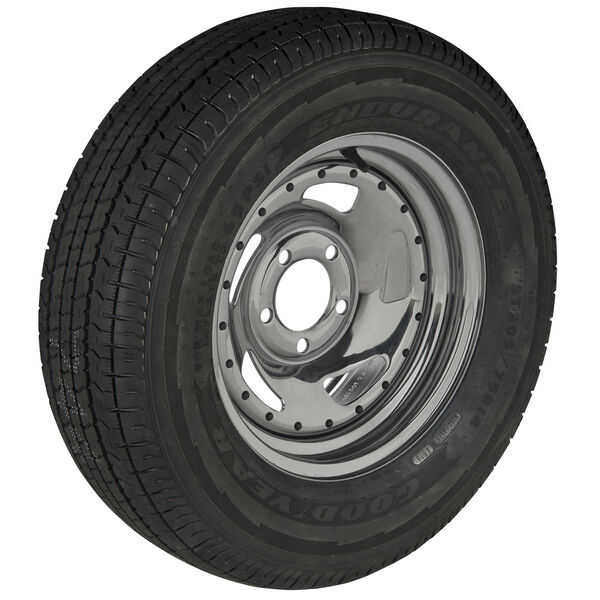 Goodyear Endurance ST205/75 R 14 Radial Trailer Tire, 5-Lug Chrome Directional R