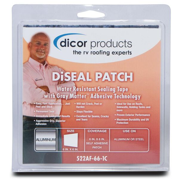 "Dicor DiSeal Patch - 6"" x 6"" Patch - Foil"