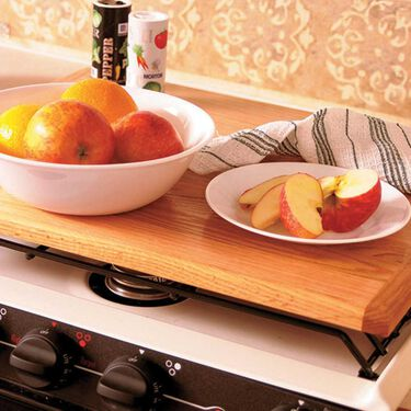 Camco Oak Accents Universal Silent Top Stovetop Cover
