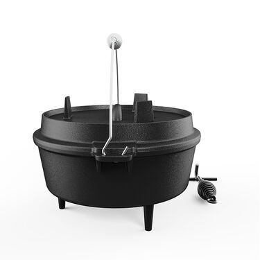 Mighty Hand 6 QT. Camping Dutch Oven with Griddle