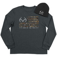 Realtree Men's Freedom Long-Sleeve Tee & Beanie Set