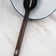 Robert Irvine Oversized Slotted Spoon with Wood Decal Handle