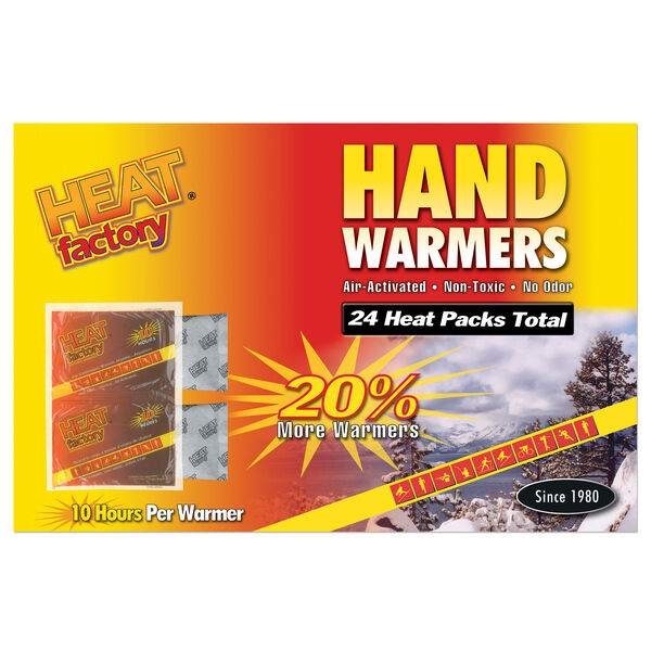 Heat Factory Glove-Sized Hand Warmers, 12-pair