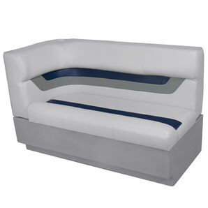Toonmate Designer Pontoon Right-Side Corner Couch - TOP ONLY - Sky Gray/Navy