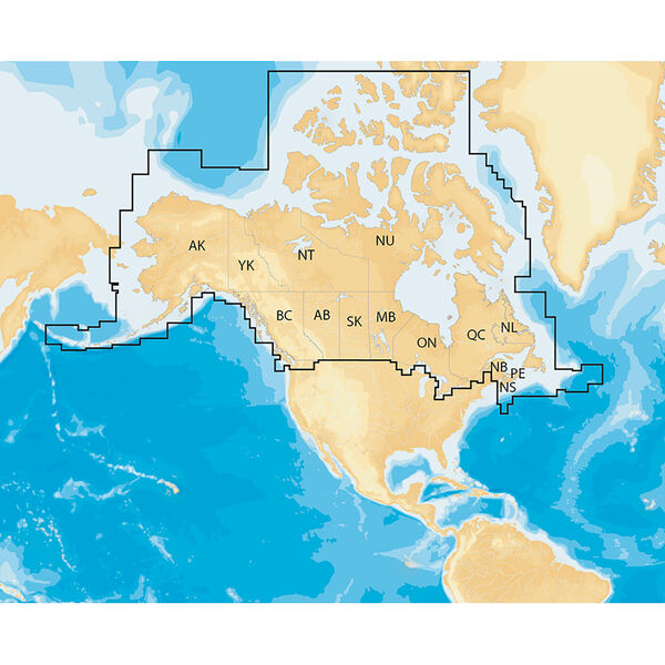 Navionics Electronic Chart, Canada & Alaska