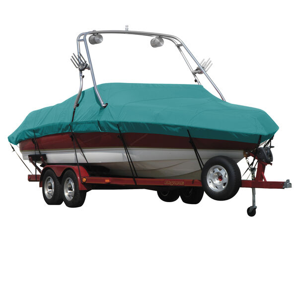 Exact Fit Covermate Sunbrella Boat Cover For CORRECT CRAFT PRO AIR NAUTIQUE COVERS PLATFORM w/BOW CUTOUT FOR TRAILER STOP